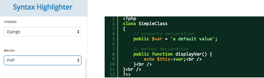 SyntaxHighlighter Element For Cornerstone 3