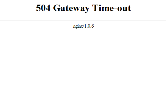 [SOLUTIONS] 504 Gateway Timeout Nginx