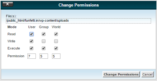 Recommended File Permissions for WordPress