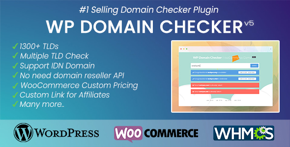 WP Domain Checker (WHMCS & WooCommerce Integration)